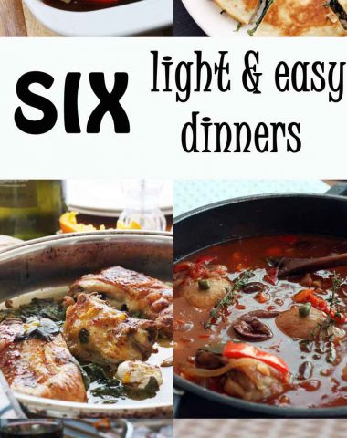 Six light & easy dinners (& an upcoming giveaway!)
