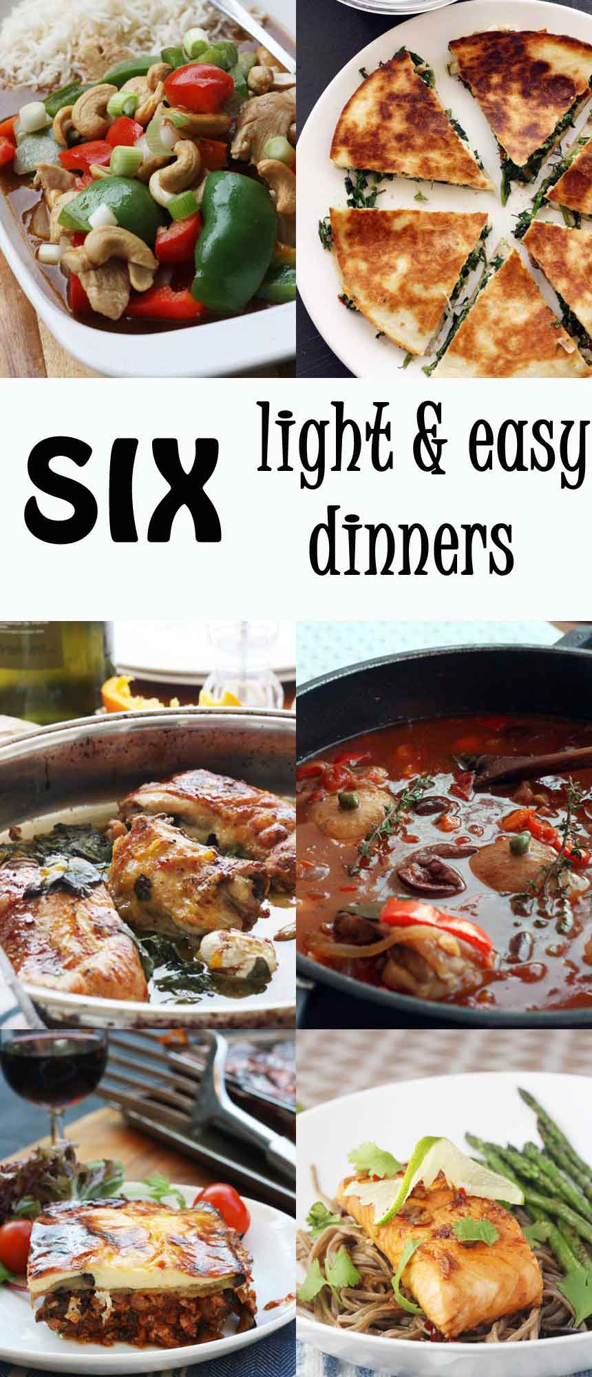 Light easy meals recipes