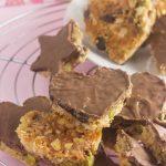 coconut pistachio chocolate hearts & stars