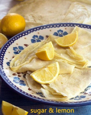 'Pancake Day' sugar & lemon crêpes