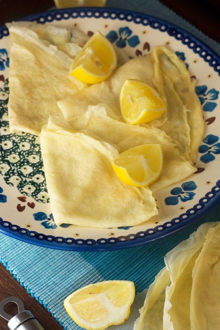 simple sugar & lemon crêpes - simple but delicious!