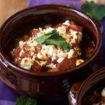 Our favourite baked eggplant with tomato & feta (gluten-free)