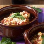 our favourite baked eggplant with tomato and feta