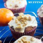 tangerine, walnut & choc chip muffins