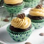 Chocolate stout cupcakes with peanut butter frosting