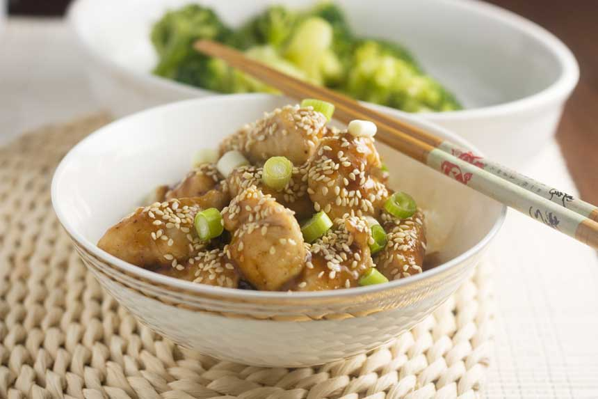 15-minute sticky sesame chicken