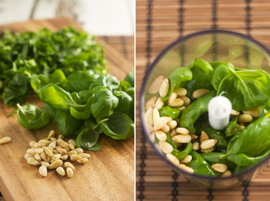 spinach, pesto & parmesan orzo salad - Scrummy Lane