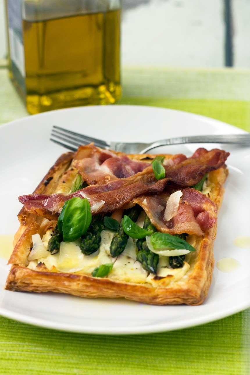asparagus brunch tart with parmesan & basil