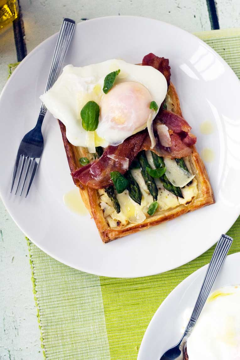asparagus brunch tart with parmesan & basil