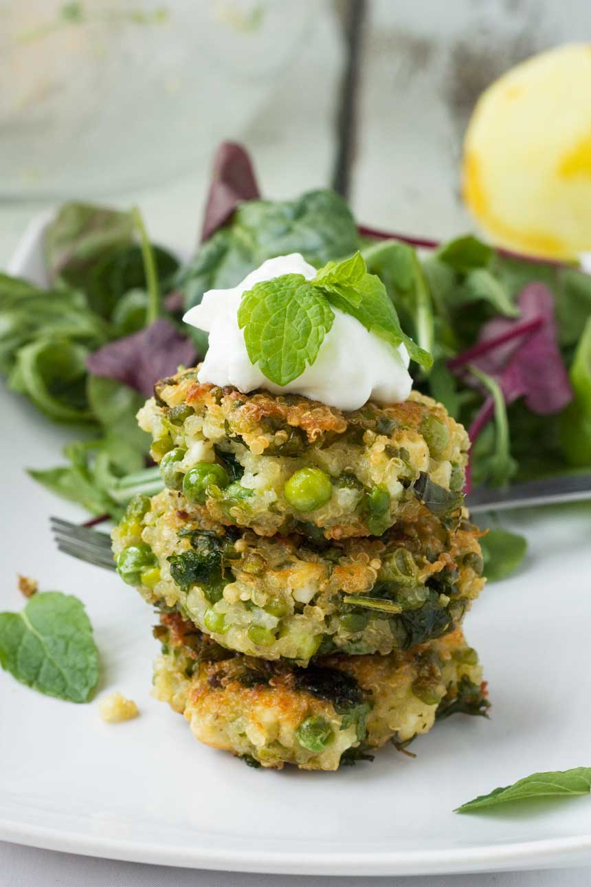 print pea mint feta quinoa fritters serves makes 12 to 15 fritters ...
