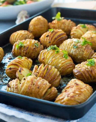 mini garlic & parmesan hasselback potatoes