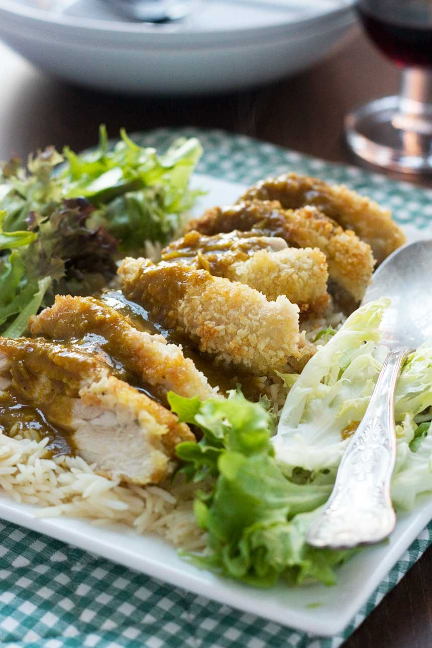 Chicken katsu curry (with an easy curry sauce)