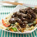 10-minute hoi sin beef and noodles