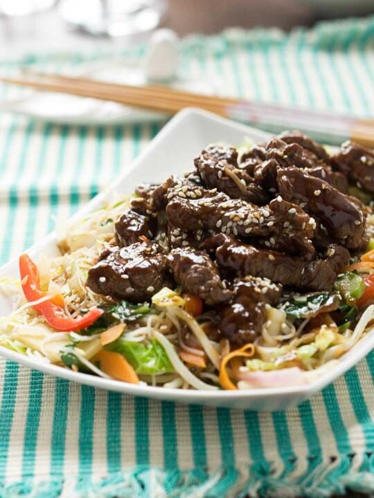 10-minute hoi sin beef & noodles
