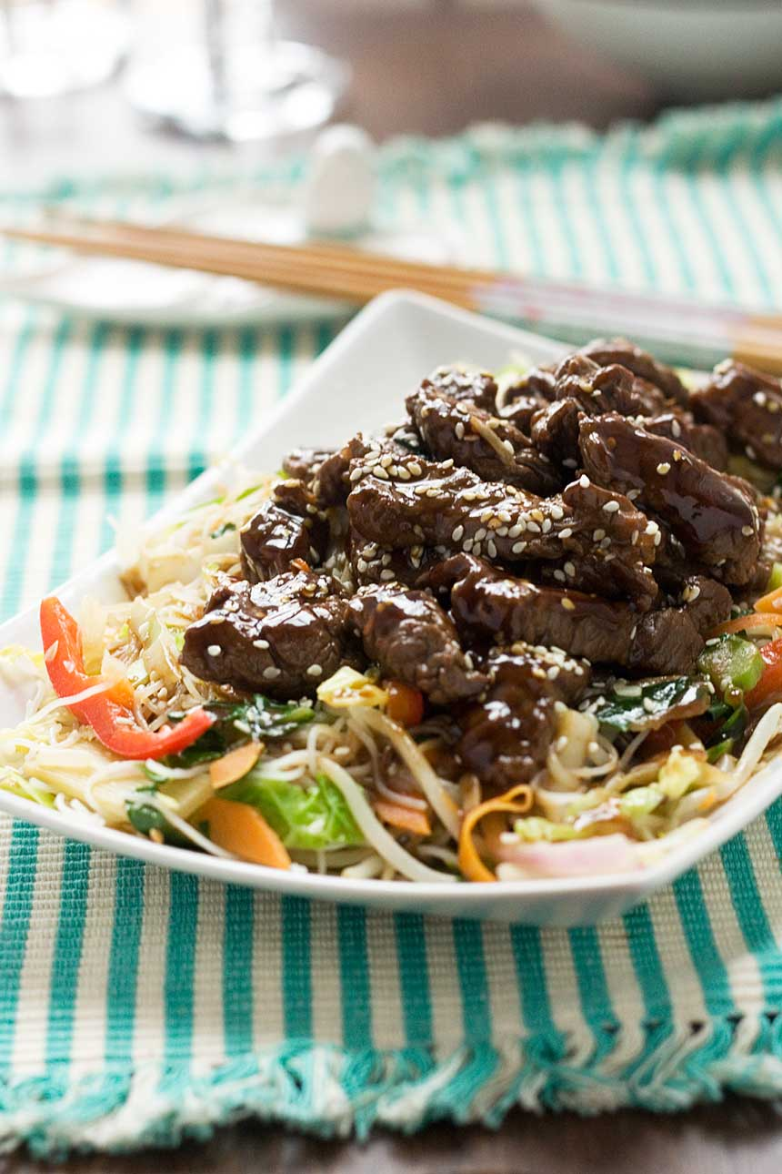10-minute hoi sin beef & noodles
