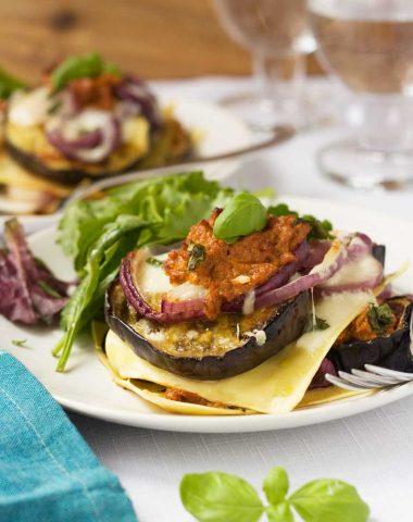 Freestyle eggplant lasagna