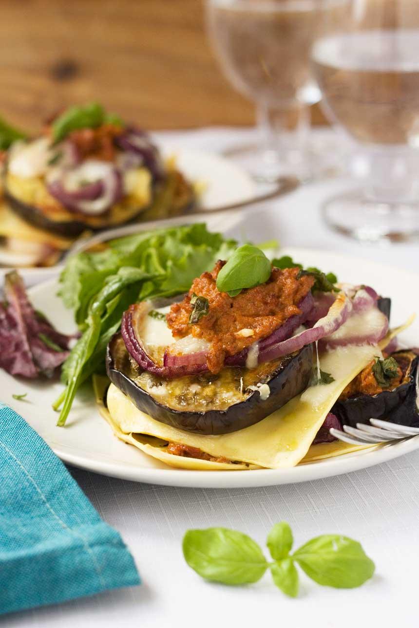 Freestyle eggplant lasagna (vegetarian!)