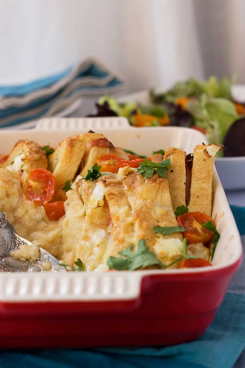 Croque monsieur brunch bake