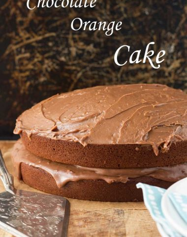 Chocolate orange cake by Scrummy Lane. Light, rich and moist - just as I'd hoped!