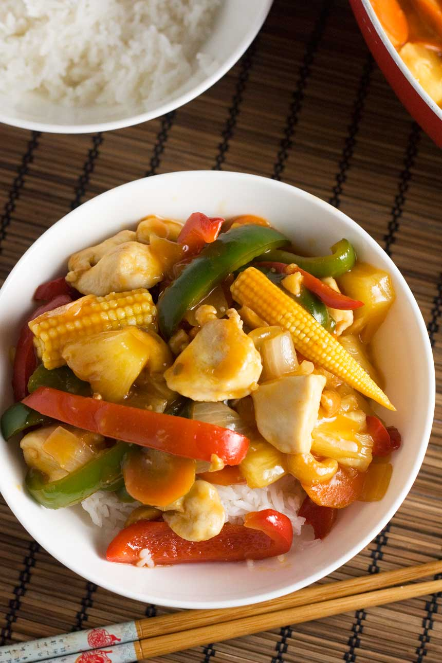 Quick sweet and sour chicken - takeaway style!