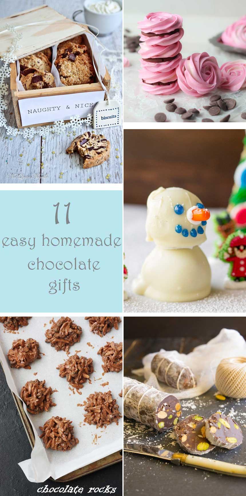 11 easy homemade chocolate gifts