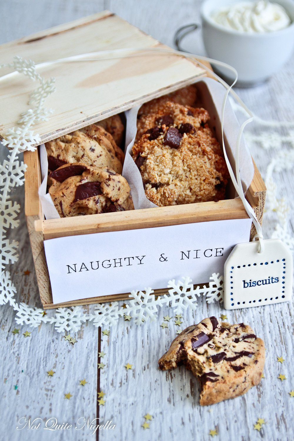 Naughty and Nice cookies from Not Quite Nigella