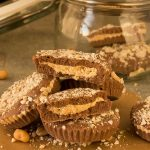 The easiest peanut butter cups in a jar (homemade food gift!)