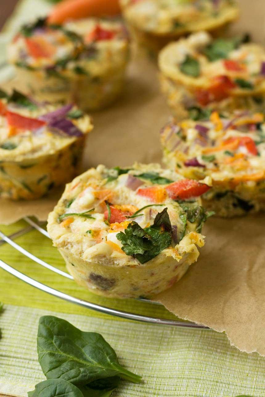 Veggie muffin frittatas