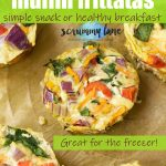 Vegetable muffin frittatas from above