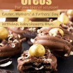 Chocolate dipped Oreos (image for Pinterest)