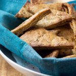 Greek baked pita chips