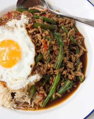 15-minute Thai basil pork stir-fry (Pad Ga Prao)