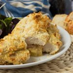Crispy baked cheese and ham stuffed chicken (with a video)