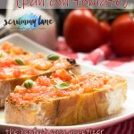 Spanish bruschetta or pan con tomate on a plate