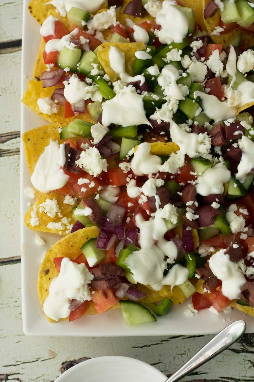 Greek nachos - Scrummy Lane