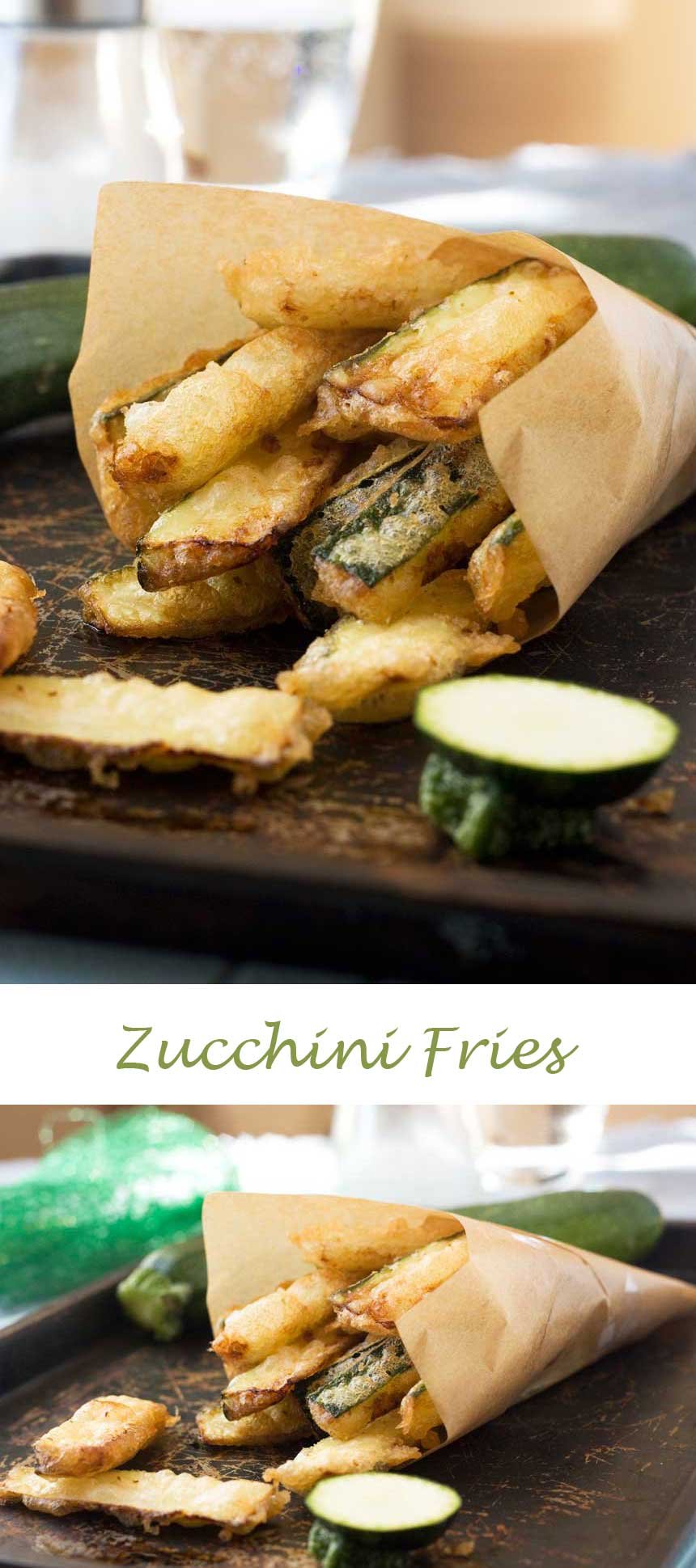 Quick and easy zucchini fries