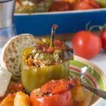 Greek stuffed peppers and tomatoes (gluten free)