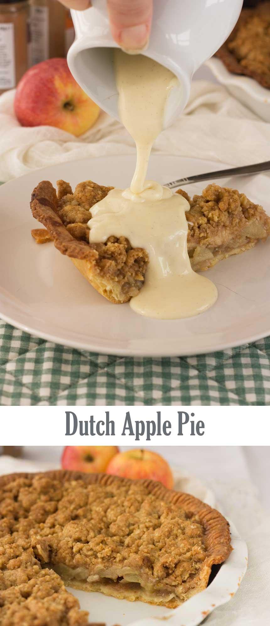 Easy Dutch apple pie - always a crowd pleaser!