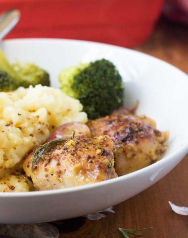'No recipe' baked honey mustard chicken