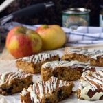 Sticky apple and ginger cake bars