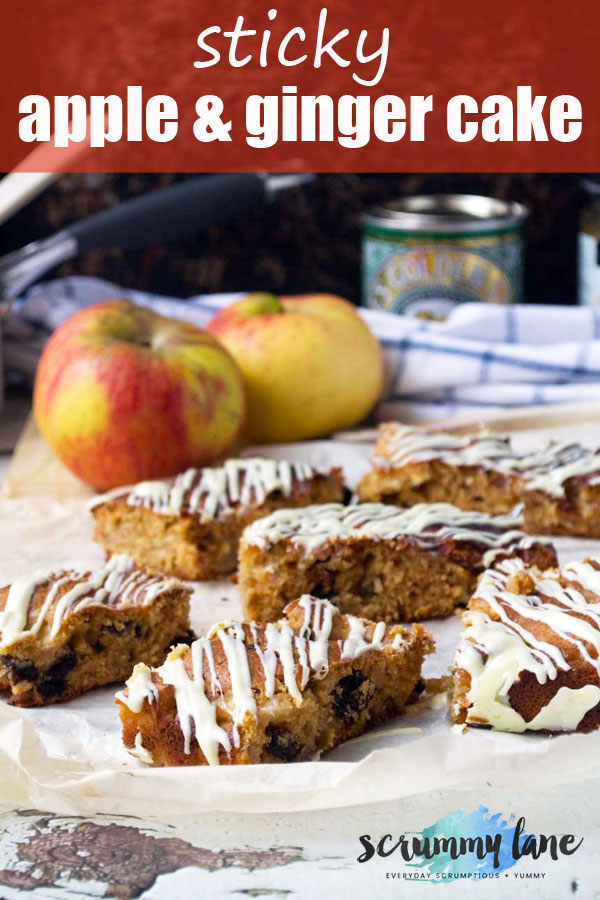 Sticky apple and ginger cake