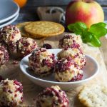 cranberry and walnut cheese truffles