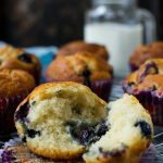 Greek yogurt blueberry muffins - a light, airy and delicious recipe!
