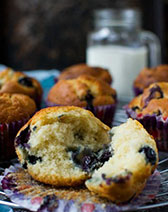 Greek yogurt blueberry muffins (low sugar recipe)