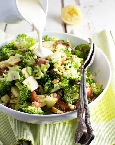 An even healthier broccoli salad with bacon and apple
