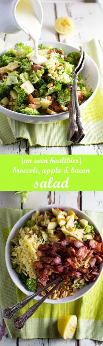 An even healthier broccoli, apple and bacon salad