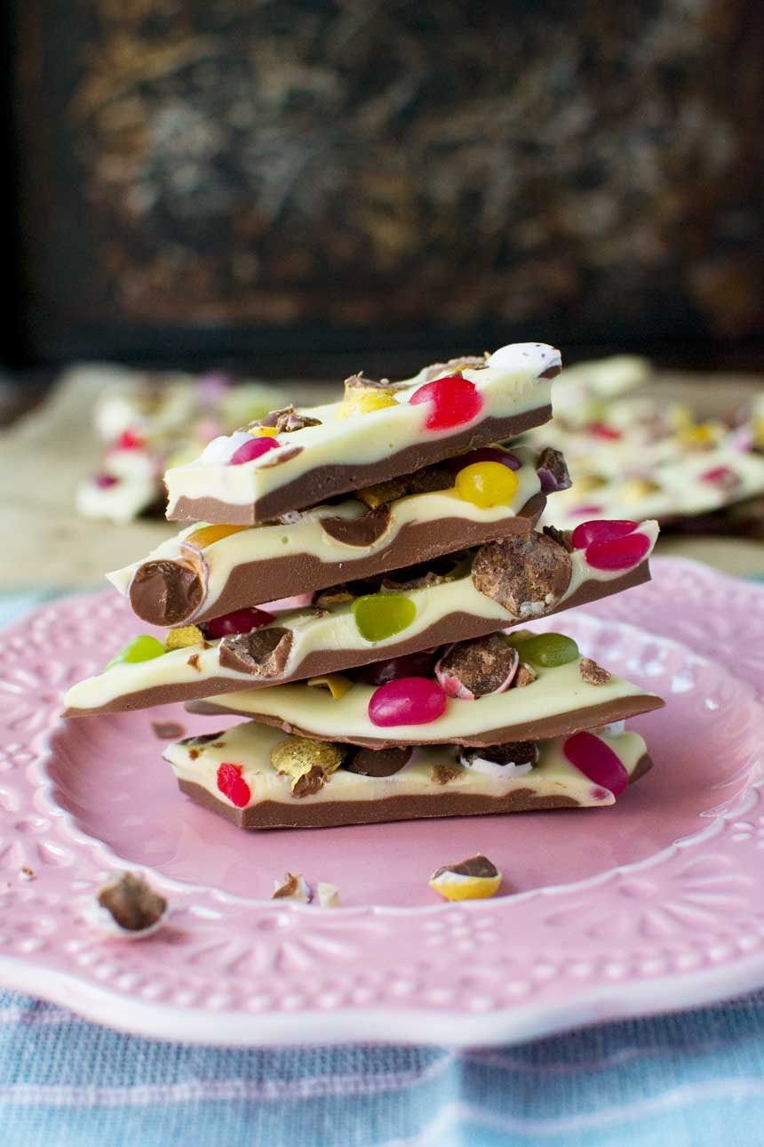 Easter chocolate bark
