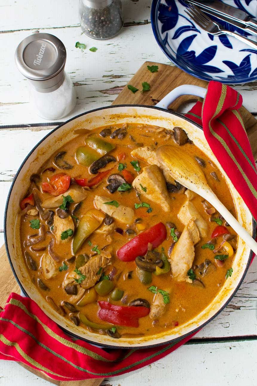 Paprika chicken - ready in 30 minutes!