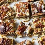 7 layer magic pecan bars from overhead