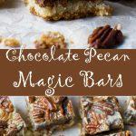 No bowl chocolate pecan bars (magic bars!)